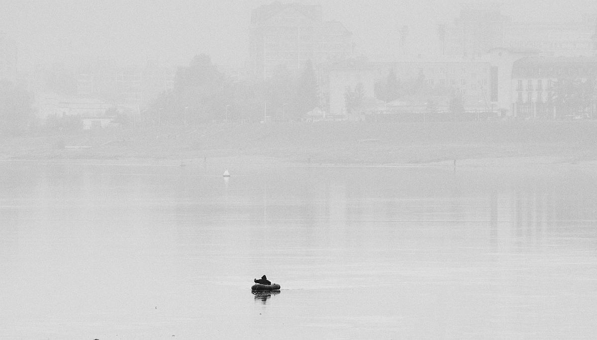 Рыбак в тумане