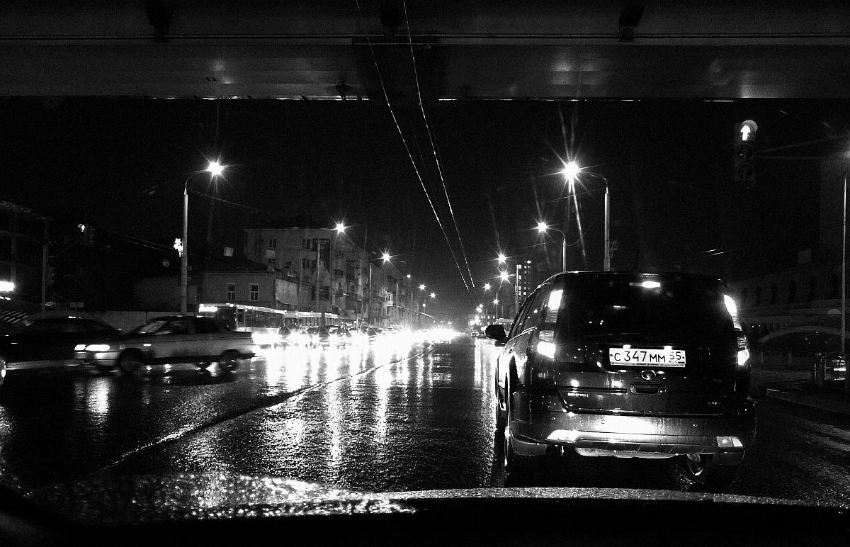 Дорога, осень, дождь