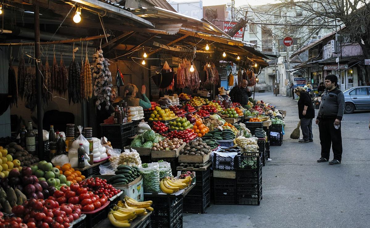 На базаре в Тбилиси