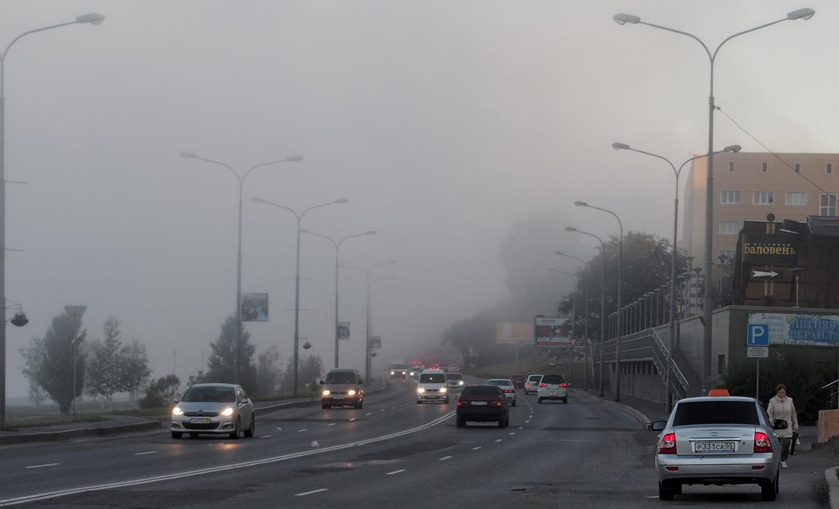 Туман на набережной.